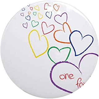 CafePress 2Moms1familyheartdesign Round Holiday Christmas Ornament
