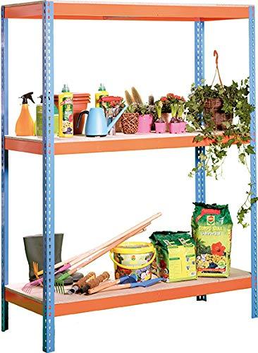 Simonrack Ecoforte 1206-3 Metal Azul - Estanterías para el hogar (3 estanterías, Metal, Metal, Azul, 400 kg, 9 min)