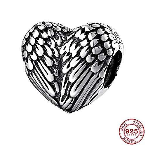 Charm Kralen,Nieuwe 925 Sterling Zilveren Mode Engel Vleugel Hart Vorm Kralen Passen Originele Bedelarmband Sieraden Maken
