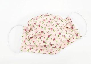 Mund- & Nasenmaske - Rosa Blumen - Baumwollmaske waschbar
