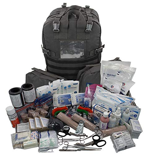 Luminary Stomp Medical Backpack Fully Stocked First Aid Trauma Kit Special Operations Pack Medical Bug Out Bag for EMS/EMT First Responders Preppers and Outdoorsman (Tactical Black)