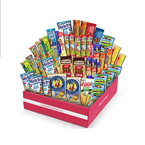 Healthy Care Package (40 Count) Natural Bars Nuts Fruit Health Nutritious Snacks Variety Gift Box Pack Assortment Basket Bundle Mix Sample College Student Office Fall Final Exams Christmas