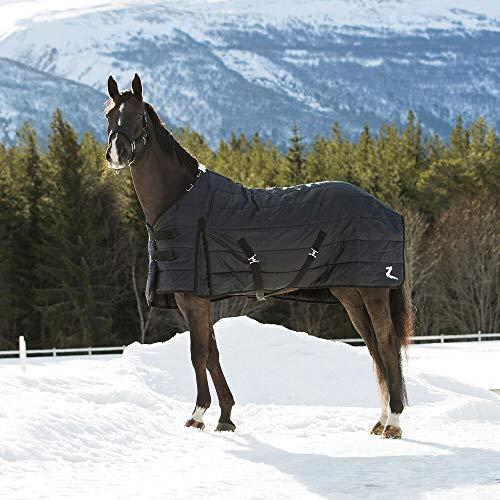 horze Nevada Stalldecke für Pferde, 420D, 400g Füllung, Schwarz, 155