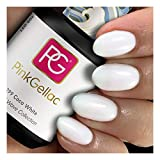 Pink Gellac Shellac Gel Nagellack 15 ml für UV LED Lampe | 299 Coco White Weiss Weiß | Gel Nail Polish for UV Nail Lamp | LED Nagel Lack Gellack Nagelgel