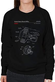 NASA Joint Airlock Quest Blueprint Women's Sweatshirt