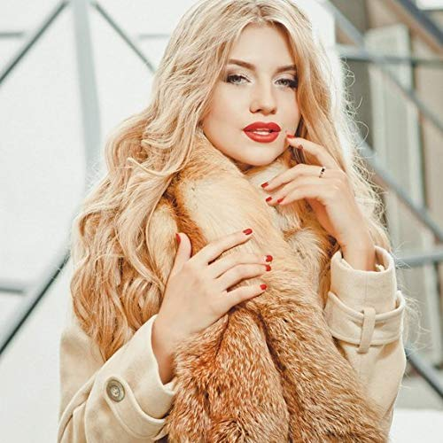 Large Fox Outlet SALE Fur Collar Jacket Coat Scarf Detachable For Free shipping on posting reviews -