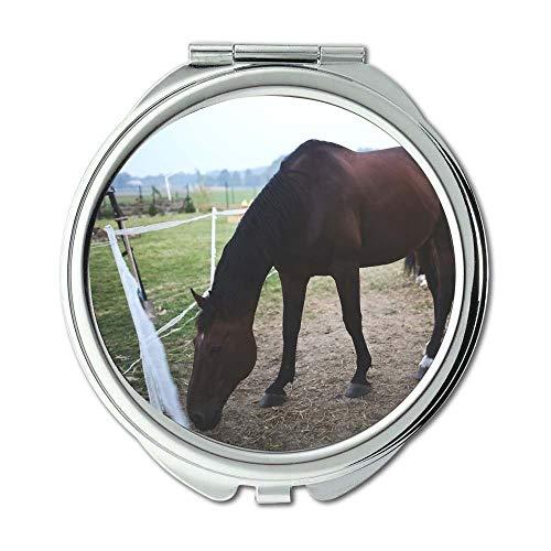 Yanteng Spiegel, Schminkspiegel, Landwirtschaft Tier Kavallerie, Taschenspiegel, tragbarer Spiegel