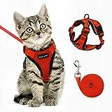 Dooradar Cat Harness and Leash for Walking, Escape Proof Pet Harness, Adjustable Soft