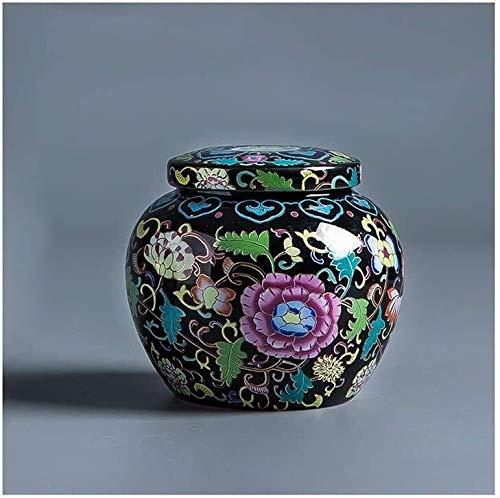 OLLY Urne Hund Mini Einäscherung Urn for Asche - Cloisonné Keramik Andenken Urnen for Human Pet 9/27 (Color : #2)