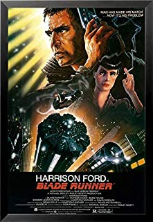 Buyartforless Work Framed Ridley Scott's Blade Runner 36x24 Movie Art Print Poster, Black