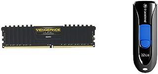 CORSAIR DDR4-2666MHz デスクトップPC用 メモリモジュール VENGEANCE LPX Series 8GB×2枚キット CMK16GX4M2A2666C16 & Transcend USBメモリ 32GB USB 3.1 スライド式 ブラック TS32GJF790KBE 【Amazon.co.jp限定パッケージ】