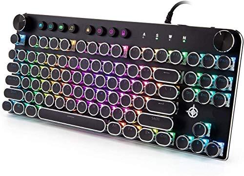 Teclado mecánico para videojuegos, teclado mecánico de 87...