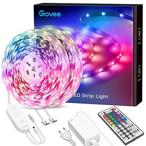 Govee LED Strip 20m, RGB LED Streifen, 5050 SMD LED Stripes mit 44-Tasten Fernbedienung, 600 LEDs LED Lichtband Leiste, DIY Farboptionen für Schlafzimmer, Decke, Küche, Schrank, 24V (2 x 10m)