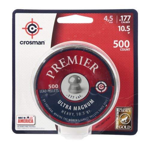 Crosman LUM77 Premier Domed Field 10.5g Target Pellets in a Tin (500 Count)