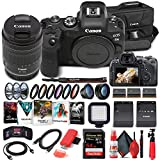 Canon EOS R6 Mirrorless Digital Camera with 24-105mm f/4-7.1 Lens (4082C022) + 64GB Memory Card + Case + Corel Software + 2 x LPE6 Battery + External Charger + Card Reader + LED Light + More (Renewed)