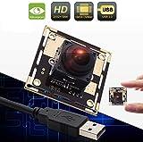 ELP Módulo de cámara de 5 MP, USB, gran angular, ojo de pez, con objetivo de enfoque automático de 170 grados,...