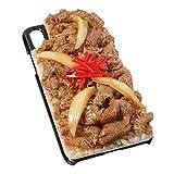 食品サンプル屋さんのスマホケース(iPhone X:牛丼[ブラック])【食品サンプル iPhone ケース カバー 雑貨 食べ物 スマートフォン】
