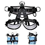 HandAcc Climbing Harness, Professional Mountaineering Safety Belt for Rock Climbing, Fire Rescue, Expanding Training and Other Outdoor Adventure Activities (Large Size)