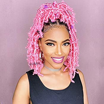 Niseyo Butterfly Locs Crochet Hair 12 Inch 1 Pack Pre-Looped Distressed Locs Crochet Braids  12 Inch  Pack of 1  Pink