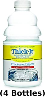 Thick-It Aquacare H20 Thickened Water Beverage, Honey Consistency, 48 Ounce, 4 Count
