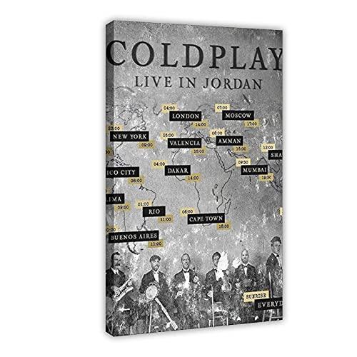 Musikdokumentarisches Coldplay Alltag – Live in Jordan Cover Poster (1) Leinwand Poster Wandkunst Dekor Druck Bild Gemälde für Wohnzimmer Schlafzimmer Dekoration Rahmen: 30 x 45 cm