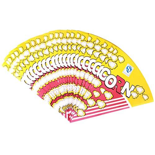 TOYANDONA Bolsas de Papel de Palomitas de maíz de Papel de Comida de 100 Piezas para Dulces de Palomitas de maíz de invitación