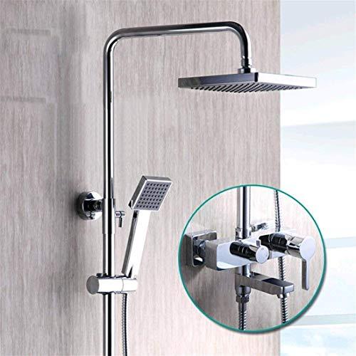 IREANJ Juego de bañera en la pared de ducha de material de cobre juego de baño termostático multifunción Booster baño ducha Set (color: -, tamaño: -)