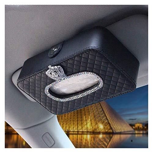 Auto-Papiertuch-Kasten LuxuxRhinestone Crown Car Tissue-Kasten-Kasten-Frauen-Mädchen-Leder hängend Zubehör Papiertuch-Speicher Covers Universal (Color Name : Crown)