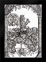 Coat of Arms with Three Lions Heads Framed Art Print by Durer, Albrecht