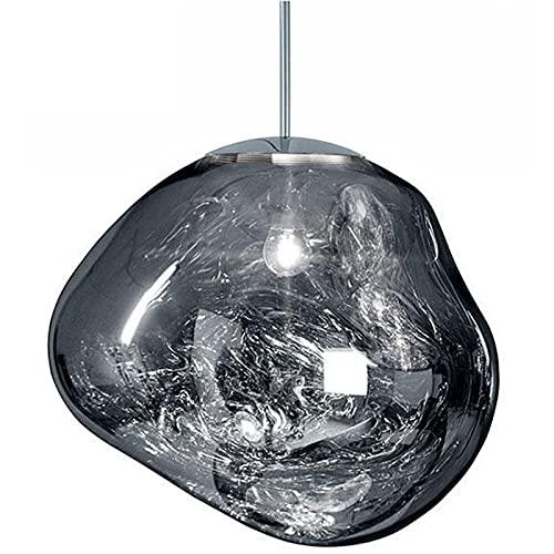 vowit Lámpara Colgante Cristal para Lava, Luz Colgante Posmoderna E27, Iluminación Colgante De Forma Irregular para...