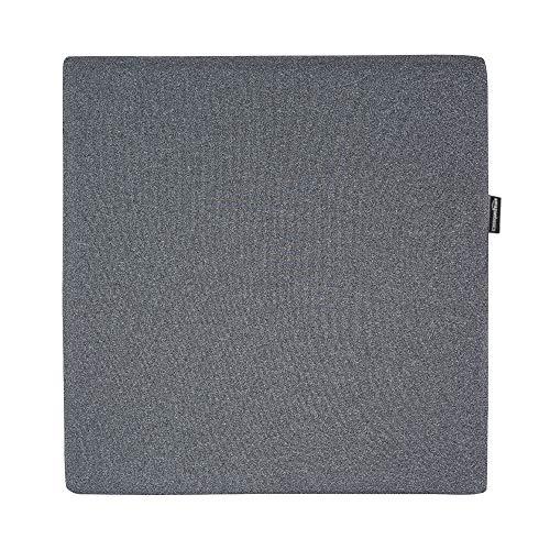 AmazonBasics - Cojin viscoelastico para asiento, gris, cuadrado