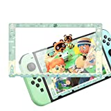 RHOTALL Screen Protector for Nintendo Switch, Animal Crossing Design Border Tempered Glass Film, Transparent HD Clear Anti-Scratch 9H Hardness Bubble-Free