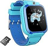 Kinder-Smartwatch, Kamera-Uhr mit Spielen, Smartwatch für Jungen und Mädchen, mit Kamera, Video, Musik-Player, Alarm, Schrittzähler, Uhrspiel für Kinder, Smart-Einstellungen (blau)