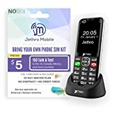 Jethro [SC490] 4G/LTE Unlocked Bar Style Cell Phone for Seniors and Kids with 30 Days Plan, Large Screen & Big Buttons, Hearing Aid Compatible, Charging Dock, FCC & IC Certified.