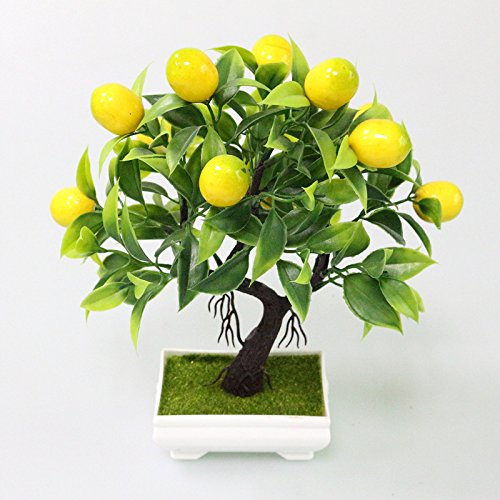 TQ Künstliche Pflanzen Gefälschte Baum Gelb Schaum Obstbaum Kunststoff Pflanzen Mini Topf Für Party Dekoration Zubehör,Yellow