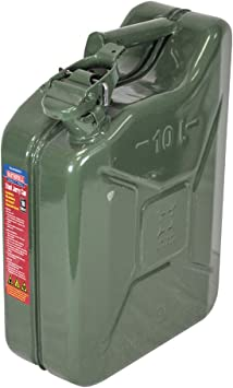 Faithfull FAIAUJERRY10 10 Litre Metal Jerry Can UN App, GS TUV Certified - Green: image