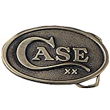 Case Knives 934 Oval Belt Buckle with Brass Construction & Embossed Case XX Logo Shield