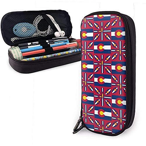 Colorado-Flagge Bleistiftetui Pencase Pouchbeutel Briefpapier Organizer Kosmetische Make-up-Tasche