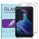Janmitta für Samsung Galaxy Tab Active 3 Panzerglas Schutzfolie [2-Stück], 2.5D Panzerfolie 9H Gehärtetem Glass [Anti-Kratzen][Anti-Bläschen] HD Bildschirmschutzfolie mit Samsung Galaxy Tab Active 3
