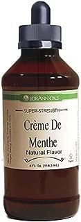 Creme de Menthe Natural Flavoring 4 oz, by LorAnn Oils, with Glass Dropper Bundle