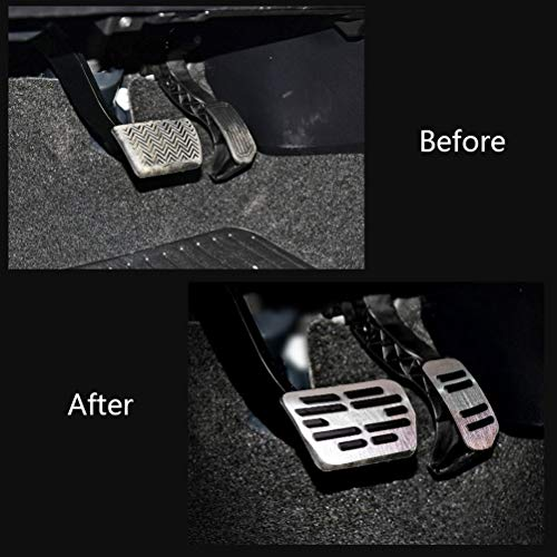 pedali pedale tappi Per Corolla,Pedale per macchine con cambio automatico Pedali poggiapiede alluminio con Gomma Antiscivolo
