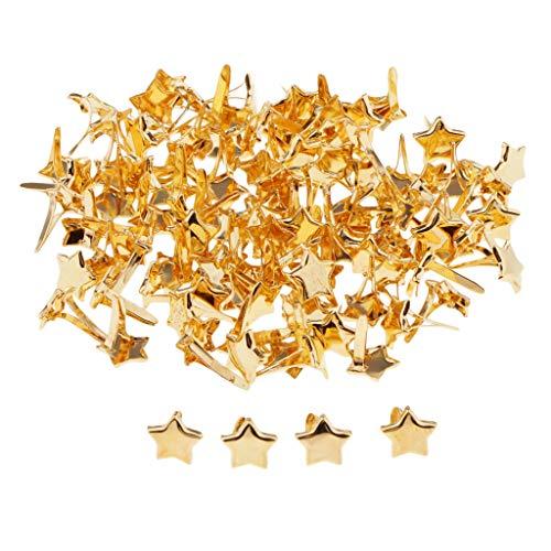 B Blesiya 50/100 pcs Mini Brads Metall Musterklammern Musterbeutelklammern Verschlussklammern - 8x10mm