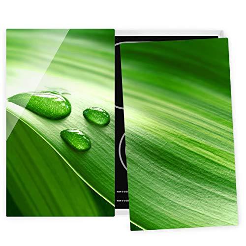 Bilderwelten Couvre Plaque de Cuisson à Induction vitrocéramique Banana Leaf Drops 52x60cm
