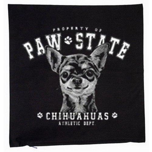 Chihuahua chiens housse de coussin 40 x 40 cm (noir)