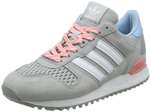 adidas Damen ZX 700 W Turnschuhe, Grau (Light Granite/FTWR White/Peach Pink), 44 EU