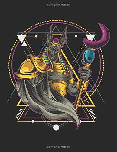 Anubis Warrior Geometric Sketchbook: White Pages: Journal for Drawing, Painting, Sketching, Writing and Doodling 120 Pages 11' x 8.5'. Warrior Anubis ... for Athletes, Martial Arts, Fighter, Boxing,