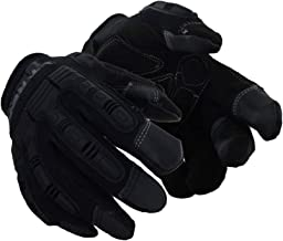 Magid Glove & Safety PGP49TL Magid T-REX Impact Ultra Gloves, Large, Black