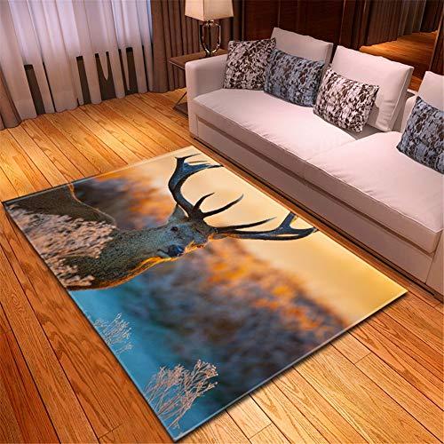 Alfombra Home Habitación Infantil Lavable Suave Antideslizante baratas suelo Rugs Hierba ciervos...