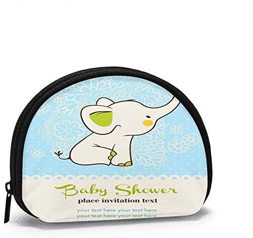 Babyparty-Einladungskarte Münzgeldbörse Wechselgeldbeutel Reißverschluss Kleine Geldbörse Brieftaschen Kosmetiktasche Aufbewahrungstasche