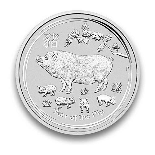 Silbermünze LUNAR II Serie - prägefrisch - einzeln in Münzkapsel verpackt (1oz 2019)